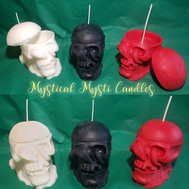 Loadable Skull Box Candle