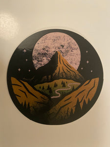 Mountian Moon Sticker