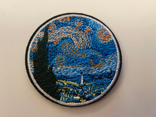 Star Night Painting Iron On Patch