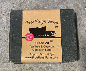 Free Reign Farms Clean Zit Goats Milk Soap