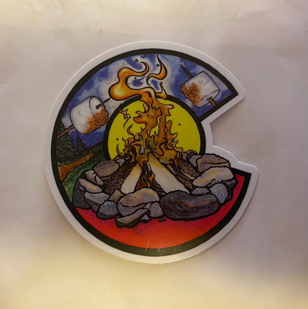 Colorado Camp Fire Sticker