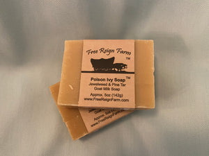 Free Reign Farms Jewelweed & Pine Tar Goats Milk Soap