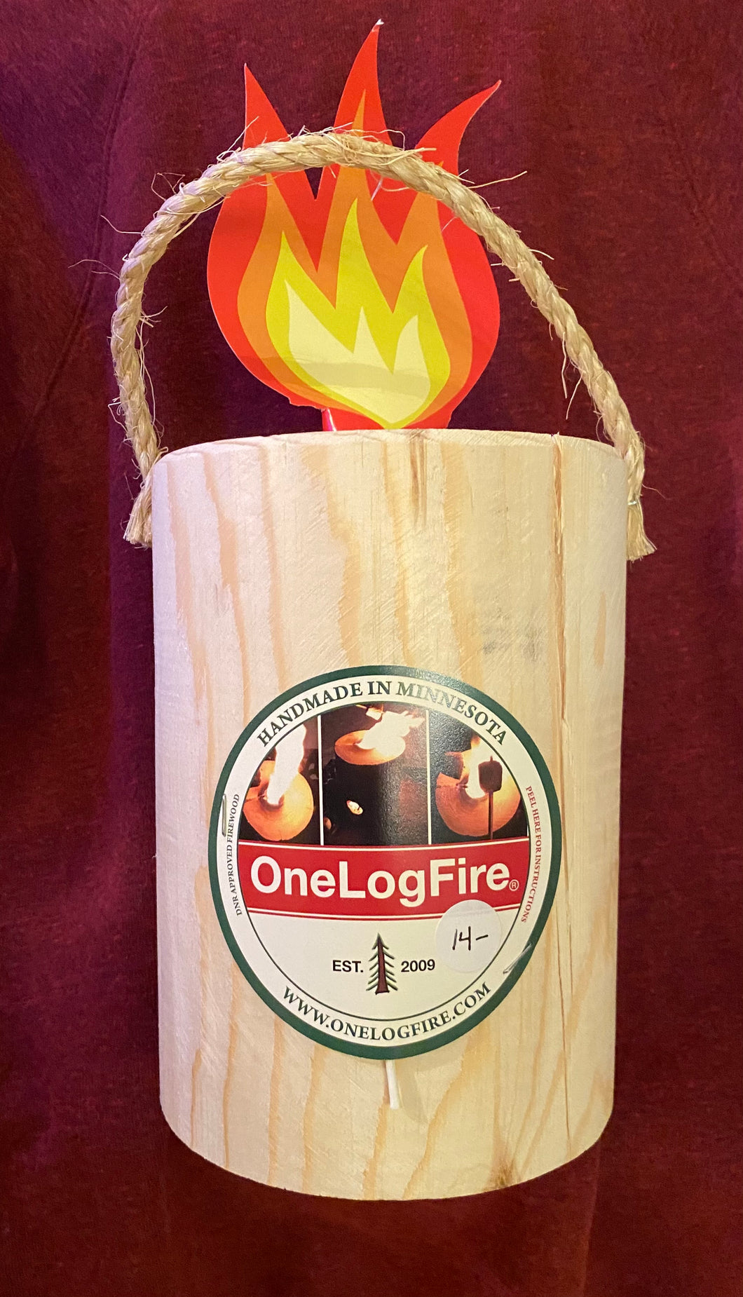 One Log Fire - Large Size