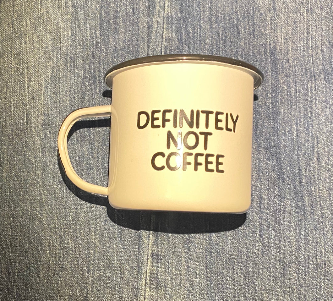 Definitely Not Coffee Camp Cup Swag Brewery