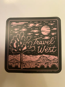 Moore Travel West Sticker