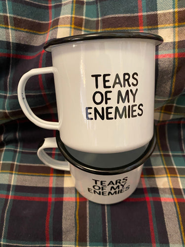 Tears Of My Enemies Camp Mug Swag Brewery