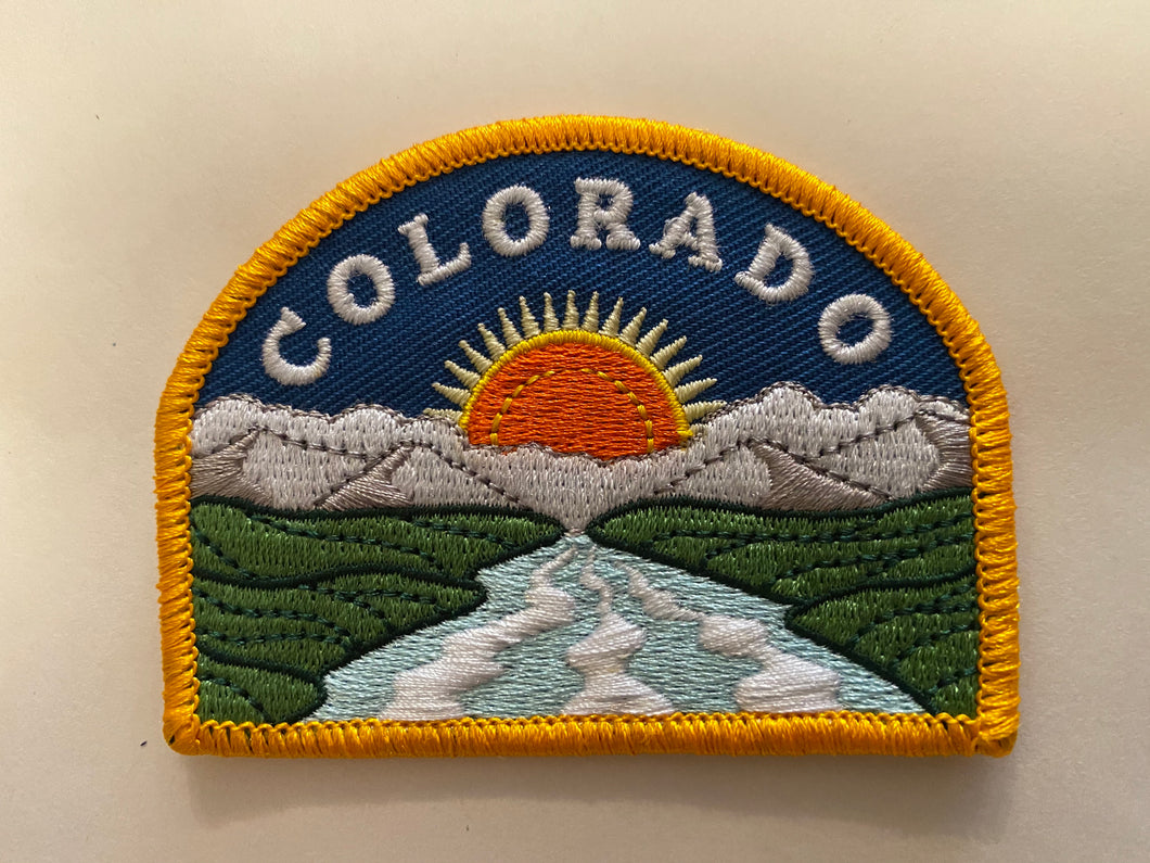 COLORADICAL COLORADO SUNSET IRON ON PATCH