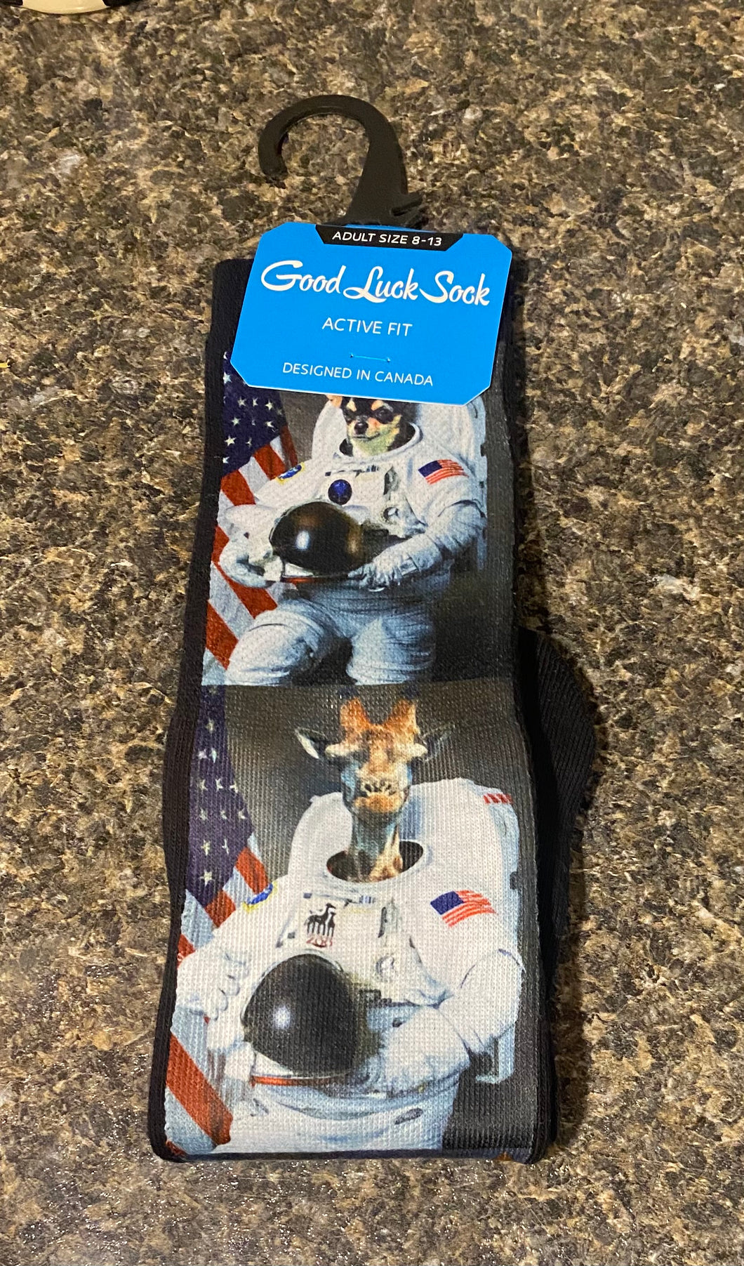 Good Luck Animals Dressed Up As Astronaut Socks