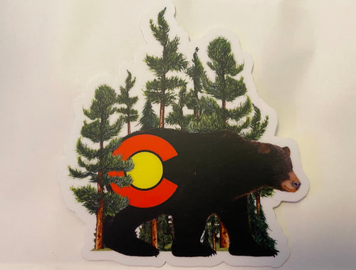 Colorado Black Bear Sticker