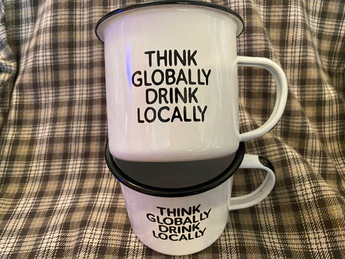 Think Globally Camp Mug Swag Brewery