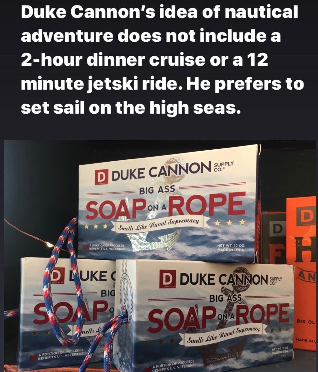Duke Cannon Big Ass Soap On A Rope