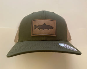 Range Leather Olive Trout Hat