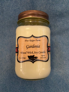 Free Reign Farms Gardenia Scented Candle