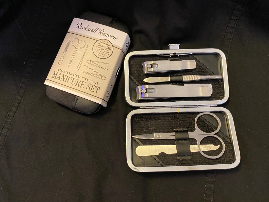 Rockwell 5 Piece Stainless Steel Manicure Set