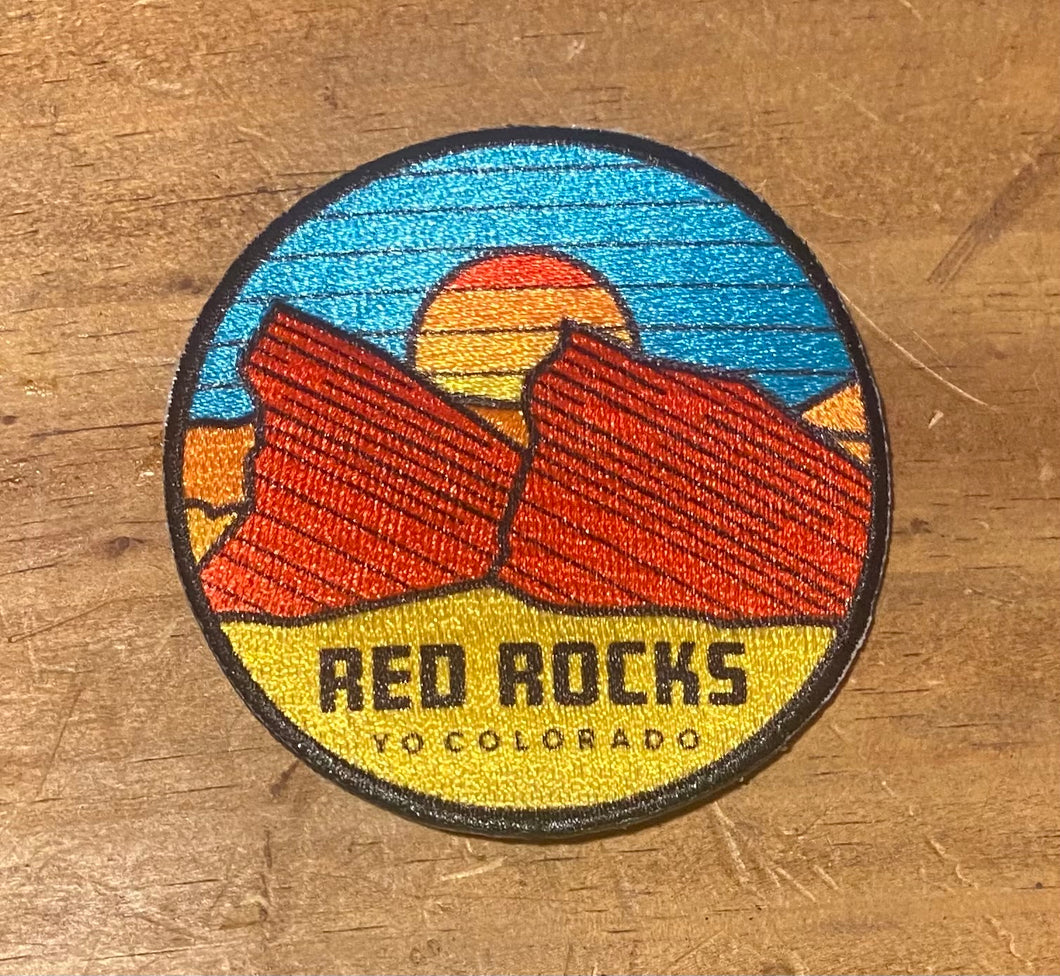 Red Rocks Iron On patch