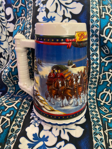 Budweiser Christmas Collectors Mug