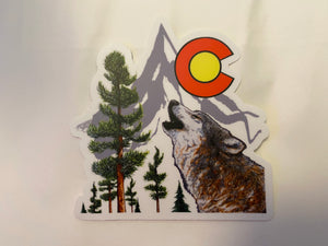 Colorado Wolf sticker