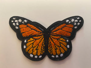 Monarch Butterfly Iron On Patch