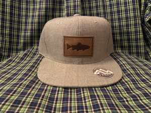 Range Leather Grey Trout Hat