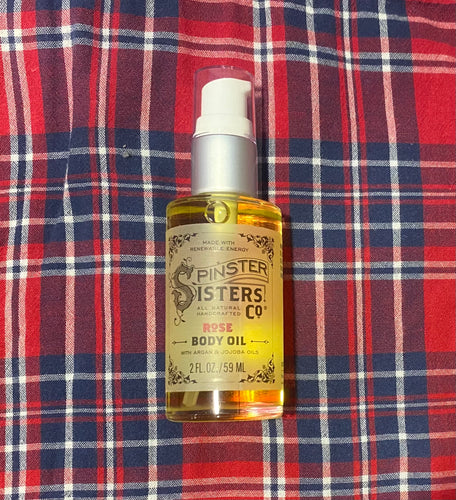 Rose Body Oil with Argan and Jojoba Oils