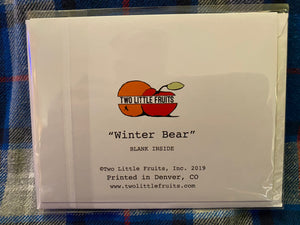 Winter Bear Greeting Card