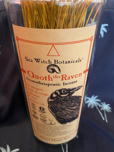 Sea Witch Botanicals Quoth The Raven Aromatherapeutic Incense