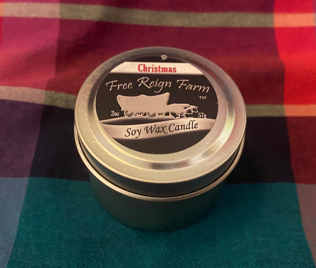 Free Reign Farms Christmas Scented Candle