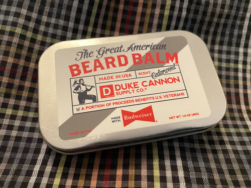 Duke Cannon Cedarwood Budweiser Beard Balm