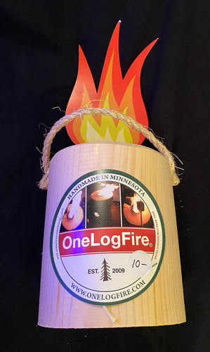One Log Fire - Small Size