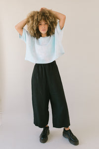 Easy Go-To Black Linen Pant