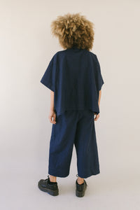 Easy Go-To Navy Linen Pant XS, L, L, XL