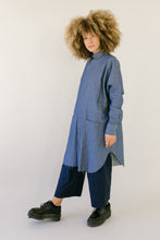Super Wide Shirt Dress in Chambray