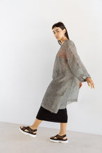 Super Wide Dress in Gunmetal Linen