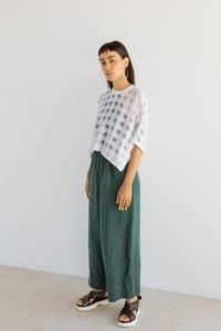 Easy Go-To Muted Green Linen Pant
