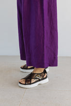 Easy Go-To Purple Linen Pant