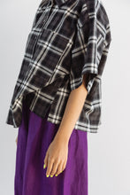 Boxy Collared Shirt in Plaid Flannel