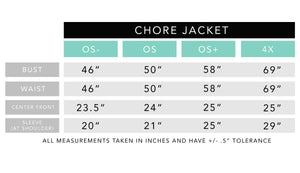 Blocked Chore Jacket in Denim