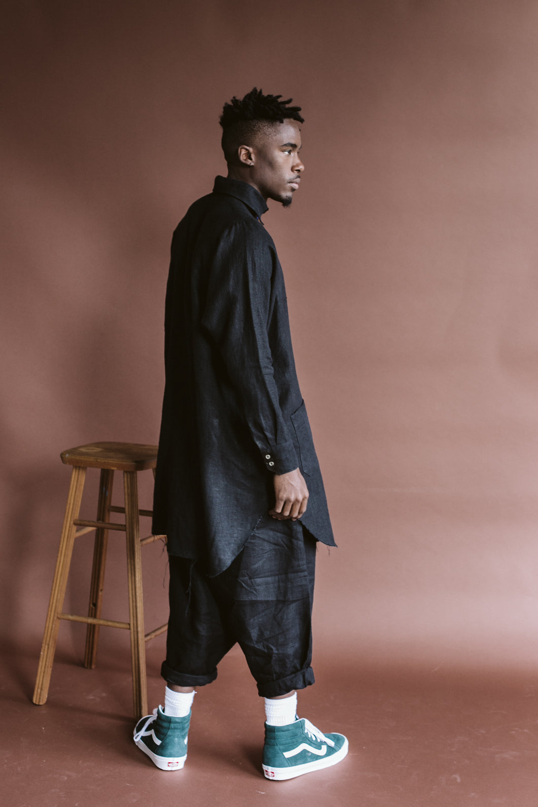 Ginno Pant in Black Linen