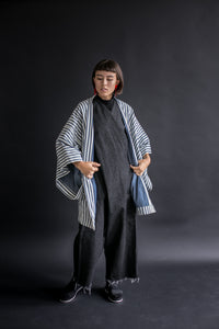 Kimono Coat in Reversible Chambray