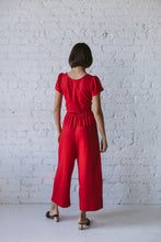 Easy Go-To Red Linen Cotton Pant