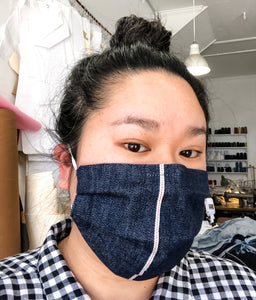 Selvedge Denim Pleated Mask
