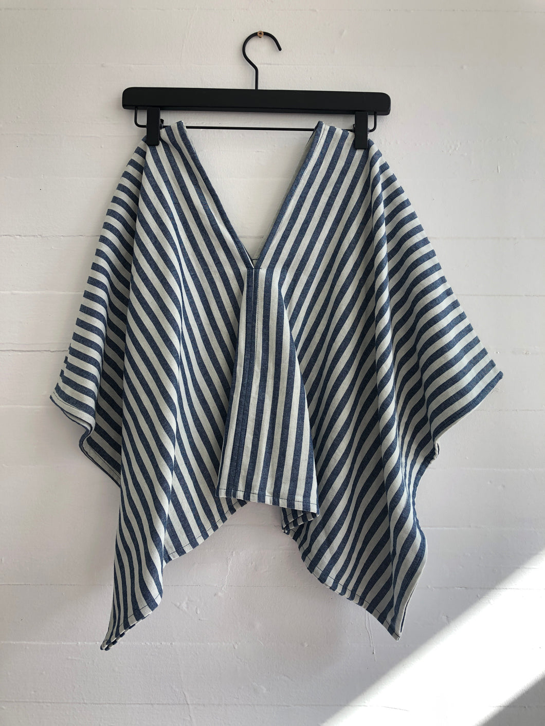 Perfect Square Top in Stripe Chambray