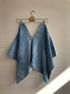 Perfect Square Top in Hand Dyed Indigo #2