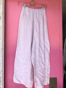 Easy Pant in Blush Linen XS