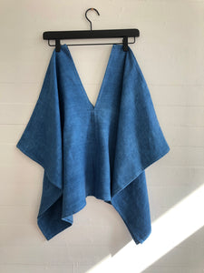 Perfect Square Top in Hand Dyed Indigo