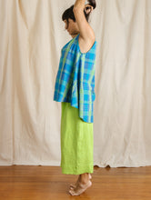 Trapeze Tunic in Blue Plaid