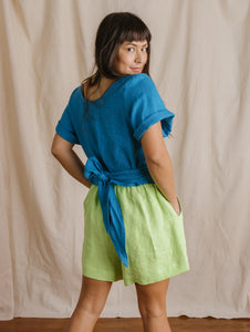 Easy Shorts in Limeade Linen