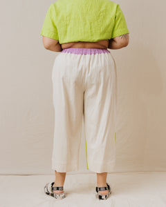 Blocked Mid Tapered Pant in Vanilla Sherbet