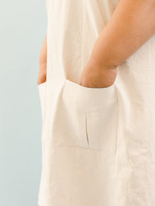 Pocket Dress in Natural Cotton Denim