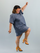 Trapeze Dress in Chambray